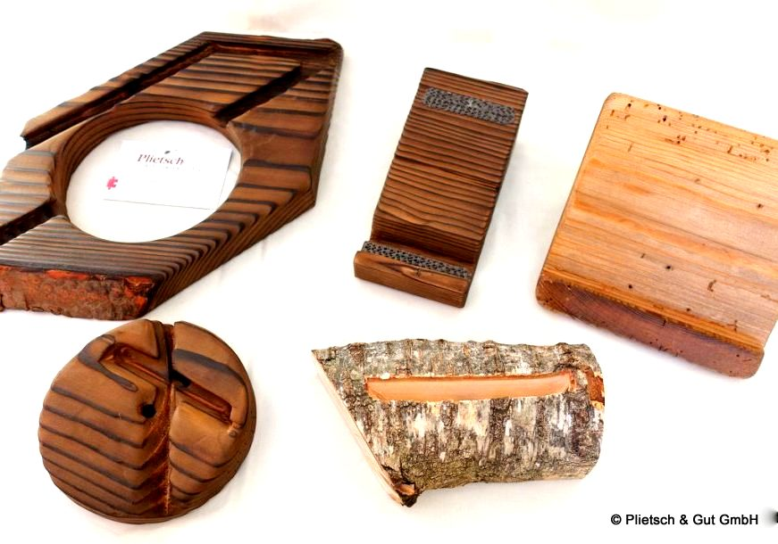 Holz-Handyhalter