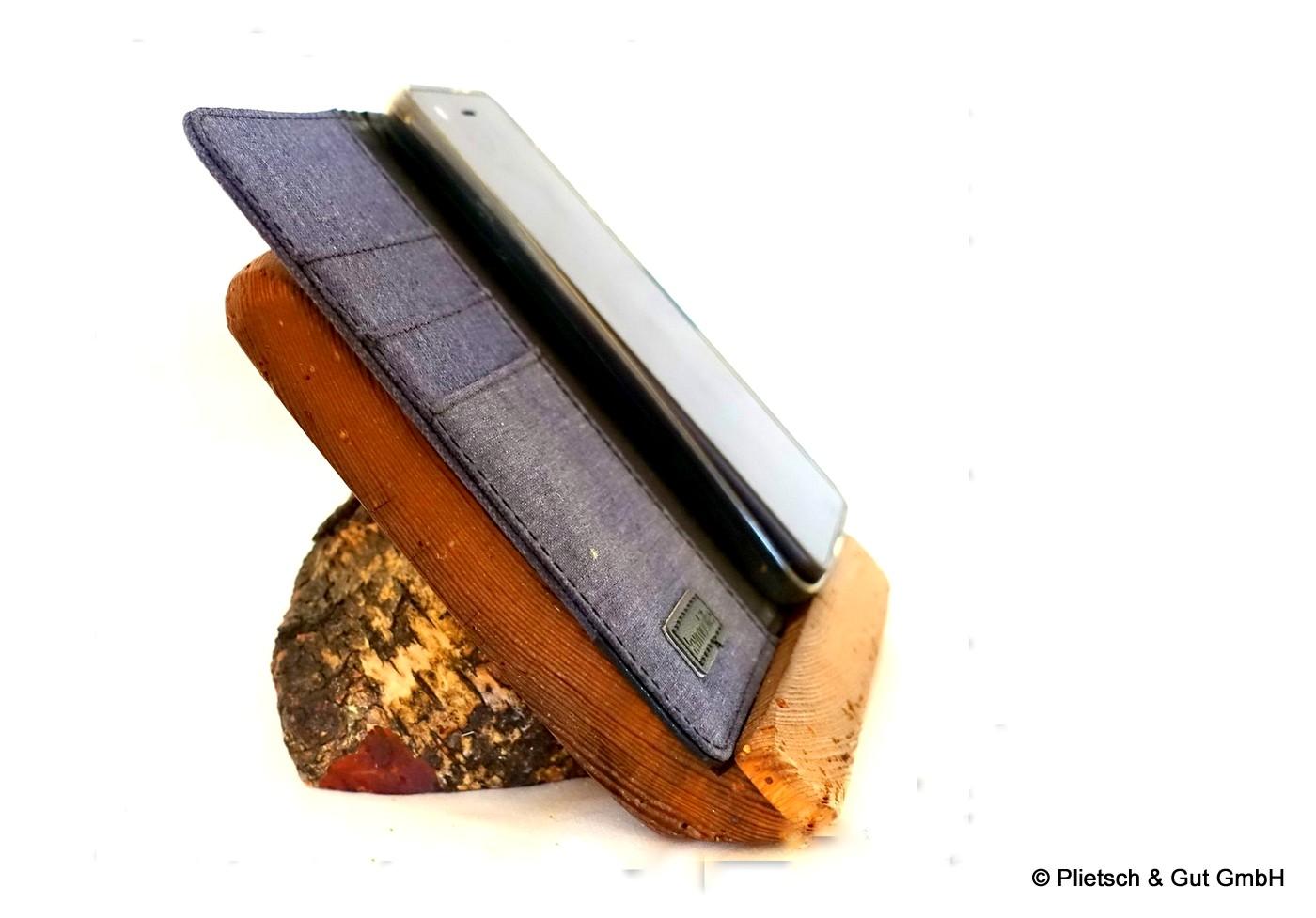 Mobiltelefonhalter aus Holz