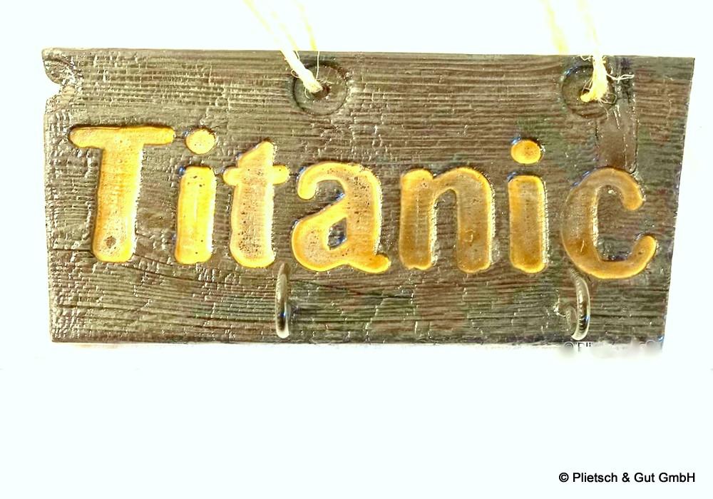 Titanic_Holzschild